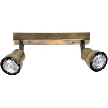 Pavia Twin Spot Light Antique Brass