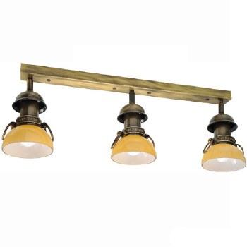 Medio Triple Spot Light Antique Brass
