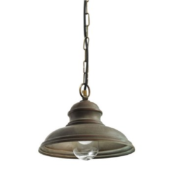 Como Hanging Ceiling Light Aged Copper Small Glass