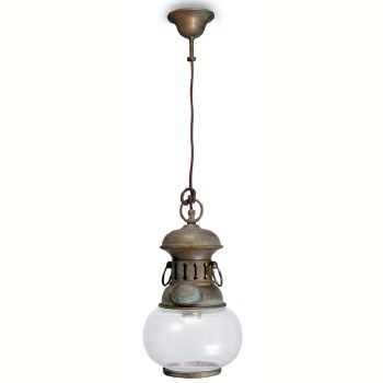 Casoria Small Pendant Light Aged Copper