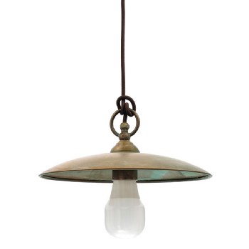 Biella Hanging Ceiling Light Aged Copper