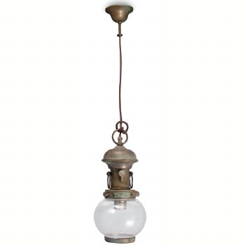 Potenza Fixed Ceiling Light Aged Copper