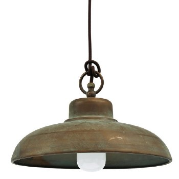 Cuneo Ceiling Light Aged Copper