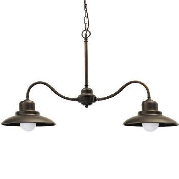 Lucca Double Ceiling Pendant Light Bronzed