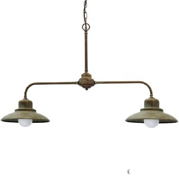 Lucca Twin Ceiling Light Aged Copper