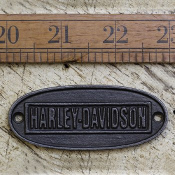 HARLEY DAVIDSON Waxed Cast Iron