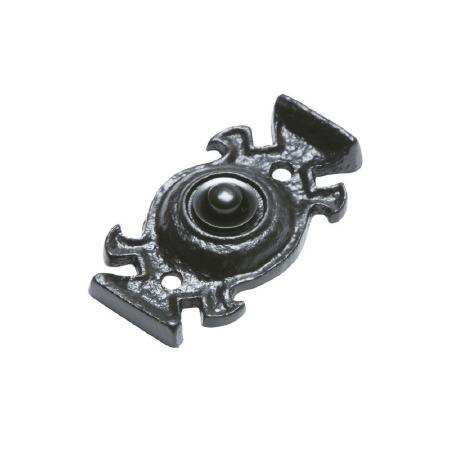 Kirkpatrick 1753 Door Bell Push Antique Black