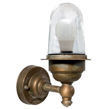 Cleto Small Outdoor Wall Light Lantern Aged Copper