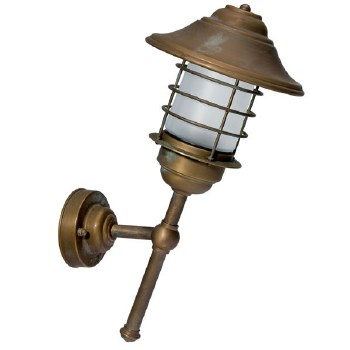 Eboli 45 Degrees Outdoor Wall Light Aged Copper