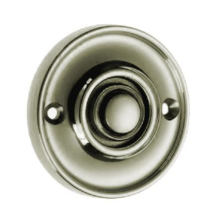 Croft Circular Door Bell Push 1913 Polished Nickel