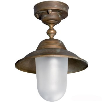 Aversa Fixed Ceiling Light Aged Copper