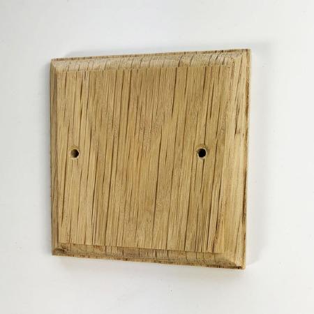 Wooden Blank Plate Oak Unfinished