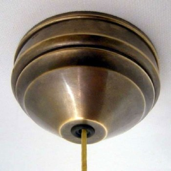 Ceiling Pull Switch Hand Aged Brass, 1 Way