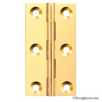 75mm x 35mm Butt Hinge Polished Brass Unlacquered