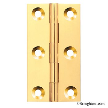 75mm x 42mm Polished Brass Unlacquered