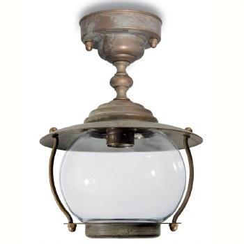 Bolzano Fixed Pendant Porch Light Aged Copper