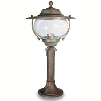 Bergamo Small Pillar Light Aged Copper