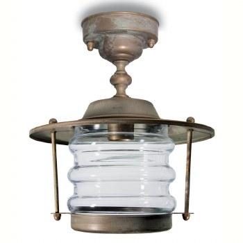Aprilia Fixed Pendant Porch Light Aged Copper