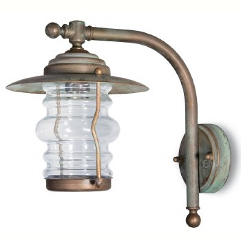 Cremona Wall Bracket Projection Arm Light Aged Copper