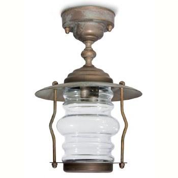 Cremona Porch Fixed Pendant Light Aged Copper