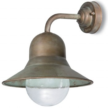 Forli Wall Bracket Dome Light Aged Copper Clear Glass