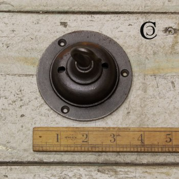 Ceiling Rose Hook Plate Aged Iron