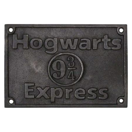 Hogwarts 9.3/4 Express Door Sign Aged Iron
