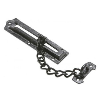 "Kirkpatrick 2968 Plain Door Security Chain 6"" Antique Black"