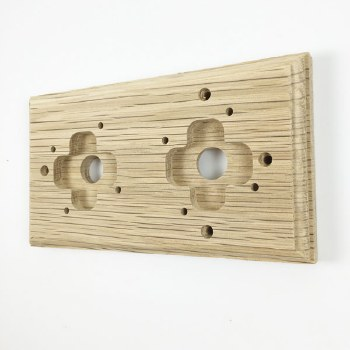 Wooden Mounting Pattress to suit 2 Gang Dome Switches