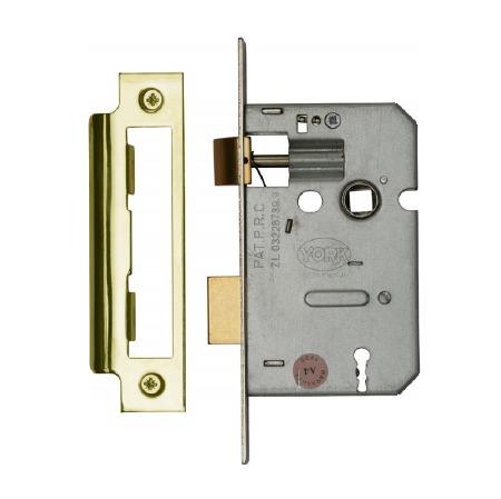 "Heritage 3 Lever Sashlocks YKASL32 Polished Brass 2.5"""