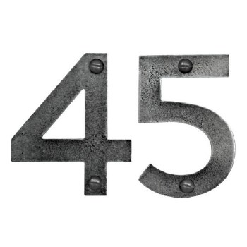75mm Solid Pewter House Numbers
