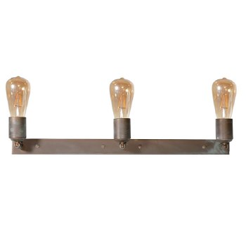 Otranto 3 Light Wall or Ceiling Light Aged Copper