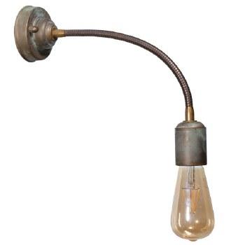 Otranto Flexible Wall Light Aged Copper