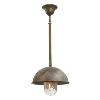 Milan Fixed Porch Ceiling Pendant Light Aged Copper