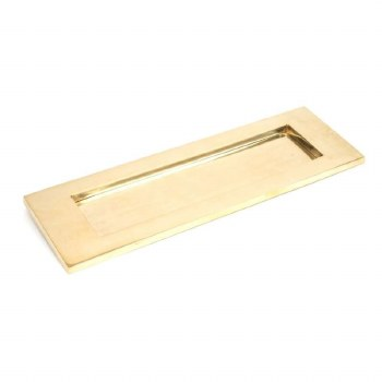 From The Anvil Large Letter Plate Polished Brass Unlacquered
