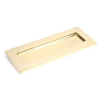 From The Anvil Small Letter Plate Polished Brass Unl