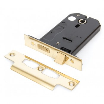 """From The Anvil 3 Lever Horizontal Mortice Lock 5"""" Polished Brass"""