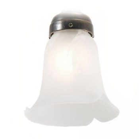 White Alabaster Petal Shade 14cm
