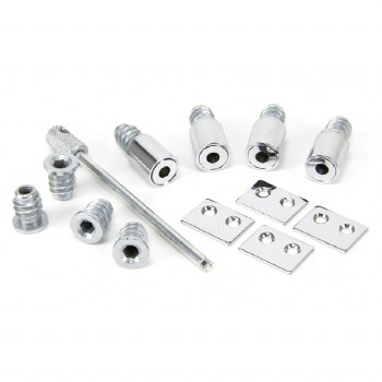 From The Anvil Set Of 4 Secure Sash Stops Polished Chrome