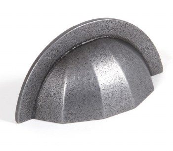 """From The Anvil Shell Drawer Pull 4""""Natural Smooth"""