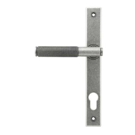 From The Anvil Door Handle Brompton Espag Slimline Lock Set Pewter