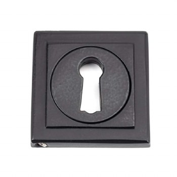 From The Anvil Round Escutcheon Square Matt Black