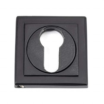 From The Anvil Round Euro Profile Escutcheon Square Matt Black