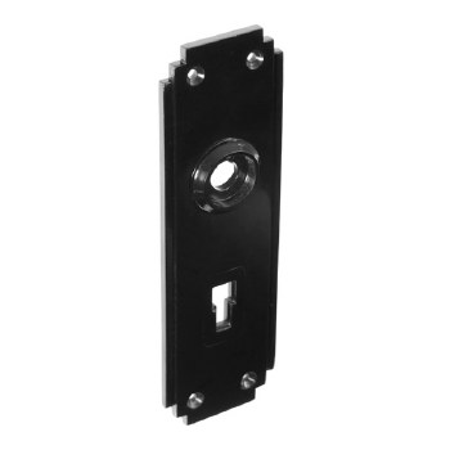 BROLITE 6050 Bakelite Lock Back-plate ONLY Black