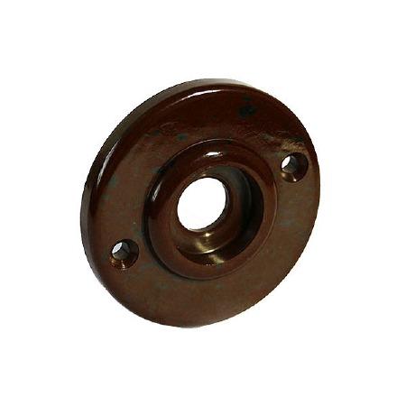 BROLITE 6065 Bakelite Round Back-plate ONLY Walnut