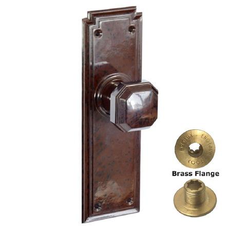 Brolux Bakelite 6403 Door Knobs Walnut No Keyhole