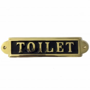 Toilet Sign Polished Brass