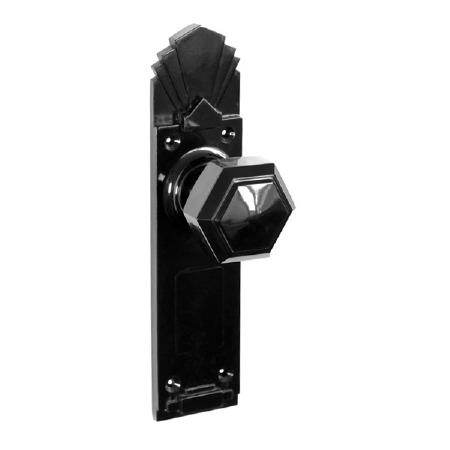 BROLITE 6853 Real Bakelite Door Knobs Black