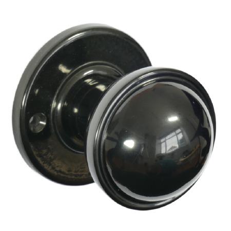 BROLITE 6870 Real Bakelite Door Knobs Black