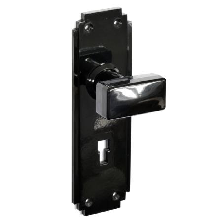 BROLITE 6883 Real Bakelite Door Knobs Black